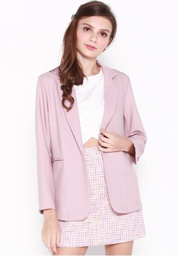 JOVET 粉紅色 Classic Blazer 90D48AAC12C113GS_1