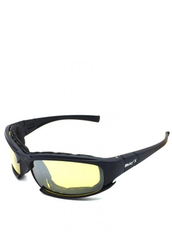Fashion by Latest Gadget black Tactical Eye Protection Sunglasses With Interchangeable Lens 1A56AGL2B7789EGS_1