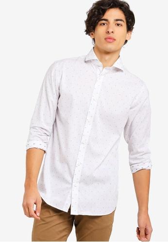 Selected Homme 白色 滿版印花襯衫 5E632AAA1EF070GS_1