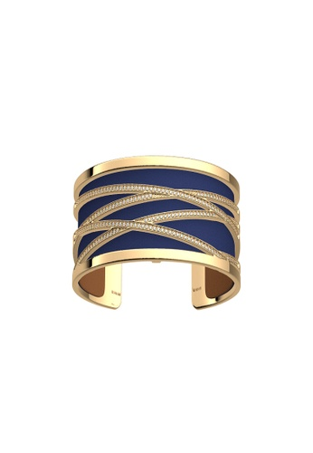 Les Georgettes by Altesse multi Les Georgettes Liens Gold 25mm Bracelet Blue Denim & Canyon leather B663EAC0341068GS_1