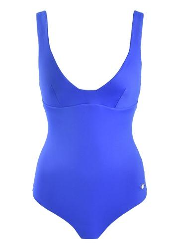 Sunseeker blue Solids One-piece Swimsuit FA65DUS0449D13GS_1
