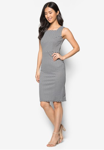 Grey Chevrozalora 心得n Pinny Dress, 服飾, 正式洋裝