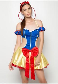 Fantasy Snow White Cutout Costume Dress