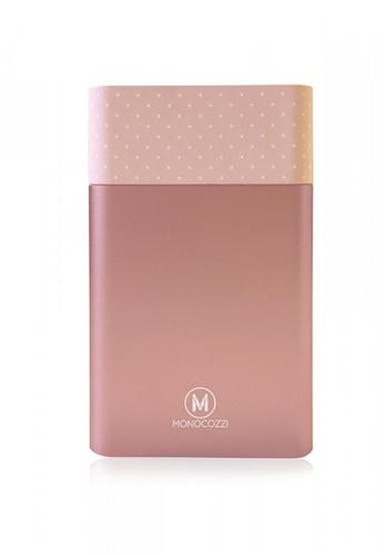 Monocozzi pink MOTIF - ALUMINIUM DUAL OUTPUT 10050MAH POWERBANK - PINK F1DA5ACFCBB2E3GS_1