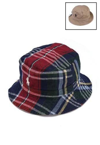 Polo Ralph Lauren multi Reversible Madras Bucket Hat 8B495AC891B582GS_1