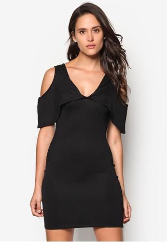 挖肩層疊緊身洋裝esprit outlet 台中, 服飾, 服飾