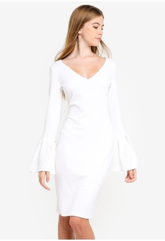 ece18870dfc2 Finders Keepers white Signs Long Sleeve Dress 48A1BAA68227FCGS 1