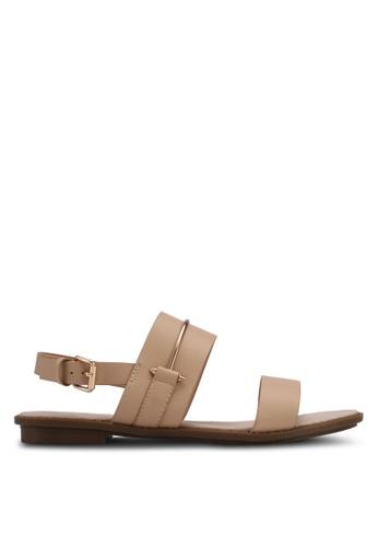 Something Borrowed beige Sandals With Metal Detail B2D07SHD7EB96EGS_1