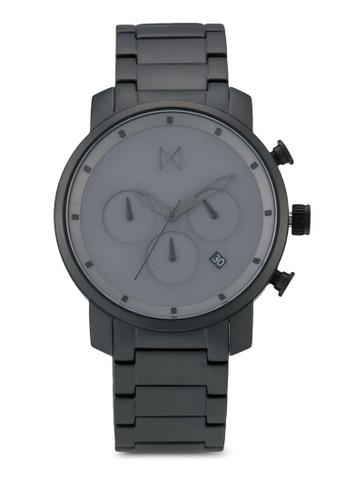 MVMT black MVMT Chrono 40 Watch - Grey Black Link MV187AC0SZQMMY_1