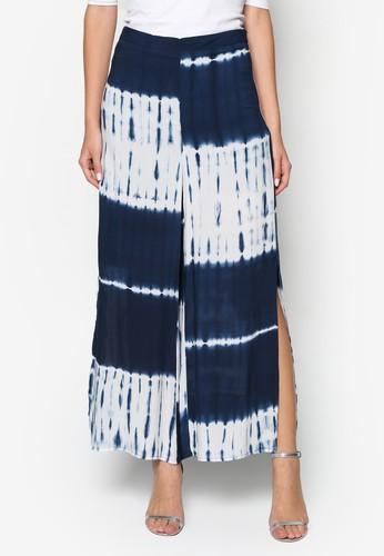 zalora taiwan 時尚購物網Tie Dye Slit Pants, 服飾, 長褲及內搭褲
