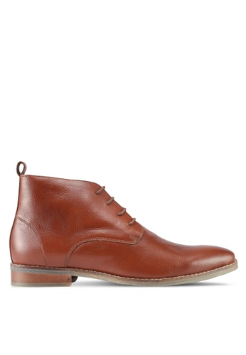 ACUTO brown Leather Boots AC283SH0SL6FMY_1