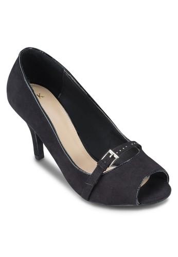露趾細跟高跟鞋, 女鞋,esprit 會員 厚底高跟鞋
