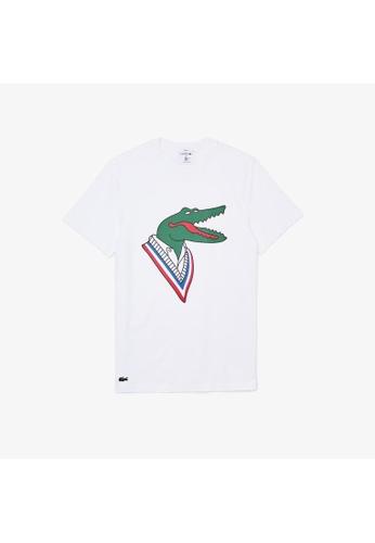 Lacoste white Lacoste Men's Lacoste x Jean-Michel Tixier Design Cotton T-shirt 8230FAAD6F1A9AGS_1