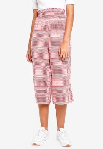TOPSHOP red Stripe Beach Trousers 2B7B7AA52B1985GS_1