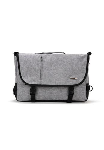 Peeps grey Movement Messenger Bag 6700FACD1020F7GS_1