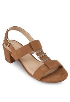 Heel Sandals with Metal Details