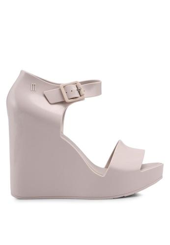 Melissa 米褐色 Melissa Mar Ad 楔型涼鞋 F2505SH3A883EDGS_1
