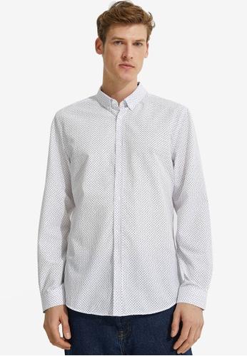 KOTON white Printed Shirt 50BB0AAB0B4229GS_1