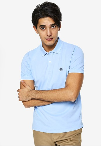 Selected Homme blue Embroidery Polo Shirt 2AFC4AAD5C47C4GS_1