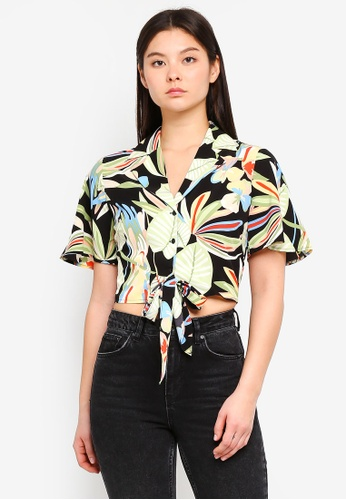 Something Borrowed black Tropical Resort Shirt AB9A5AA14889B7GS_1
