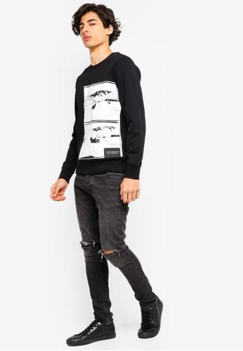 eab3b679acccba Buy Calvin Klein Andy Warhol Landscape Regular Crew Neck Sweatshirt - Calvin  Klein Jeans Online