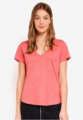 Abercrombie & Fitch red Boyfriend Tee 8D82BAA34A0440GS_1