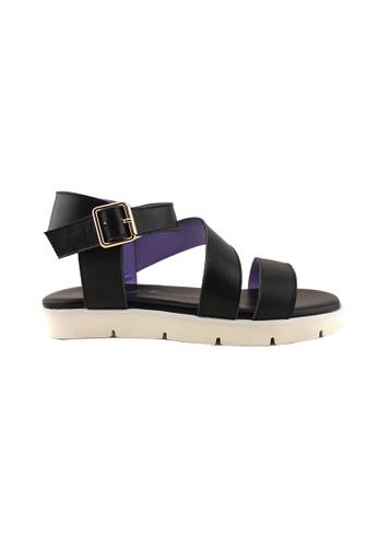 Flatss & Heelss by Rad Russel black Kelly Strappy Sandals FL655SH03QCASG_1