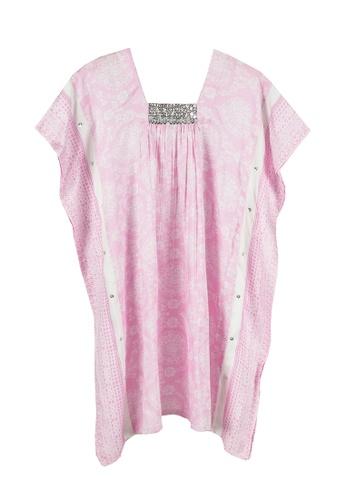 Kooshboo white and pink Anggun Baby Kaftan (Pink) B7D7BKAC4F0DCFGS_1