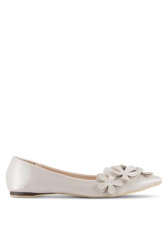 Sunnydaysweety grey 2018 New Floral Tip Toe Flats A0207GY 8A373SHF35473AGS_1