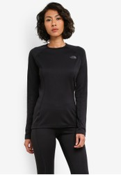 The North Face black Warm Long Sleeve Crew Neck Tee TH274AA0S7K7MY_1