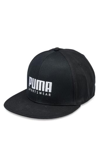 PUMA black Stretch Fit Flat Brim Cap E9025ACF94617FGS_1