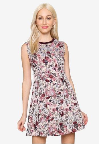 Hopeshow beige Sleeveless Round Neck Floral Mini Dress 0F9FDAAA269E53GS_1