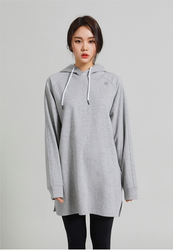 BARREL grey Women's Tail Hoodie V2 Melange Grey 63F17AA42CD6ADGS_1