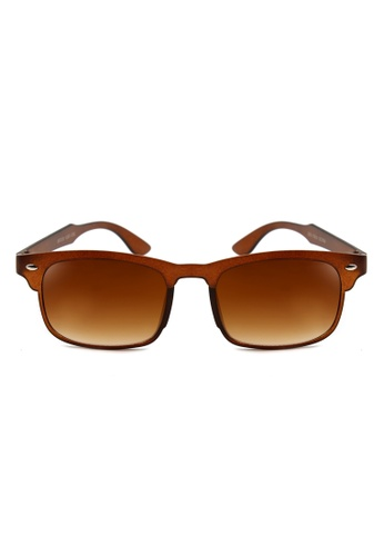 Maldives Eyewear brown Kylie Easton Rectangular Wayfarer Sunglasses 3074 MA573GL13PKCPH_1