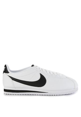 sale retailer 54e3a 822d1 Nike black and white Nike Classic Cortez Leather Shoes 01097SHF4A33ADGS 1