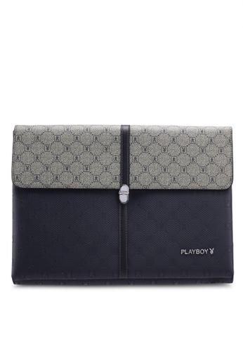 Playboy blue Playboy Clutch Bag 78315ACD662062GS_1
