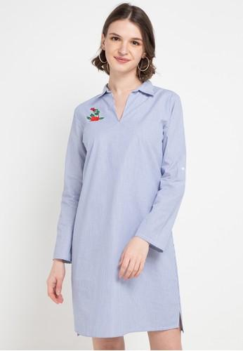 Chanira blue and multi Sofia Dress 51D11AACC0AC34GS_1