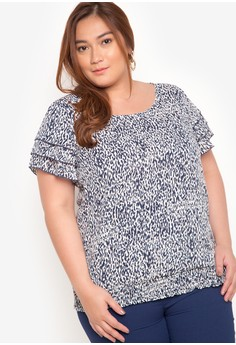 Plus Size Short Sleeves Blouse