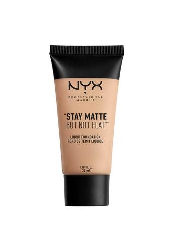 NYX Professional Makeup beige NYX Professional Makeup Stay Matte But Not Flat Liquid Foundation - WARM A3B29BE03B18B1GS_1