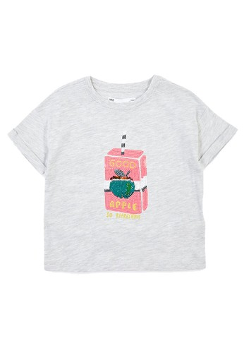 MARKS & SPENCER grey Reversible Sequin Juice Box T-Shirt 0BBB1KA94CFA32GS_1