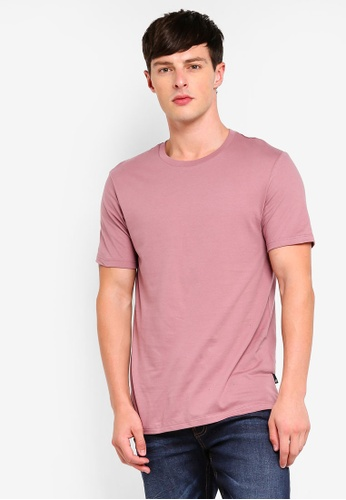 Burton Menswear London 粉紅色 圓領T恤 CA4AEAAC7D8387GS_1