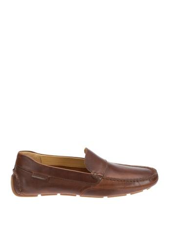 Sebago brown Kedge Venetian Driving Shoes SE328SH17OWCPH_1
