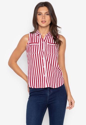 5e229040e81 Shop BNY Striped Sleeveless Shirt Online on ZALORA Philippines