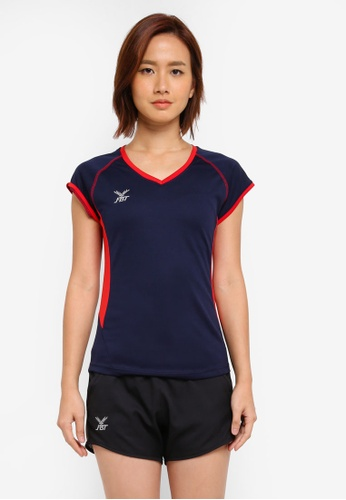 FBT red and navy Sports Tee AE215AA9CA584DGS_1
