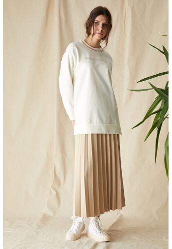DeFacto beige Long Sleeve Sweatshirt Tunic 0A1E4AAA103E87GS_1