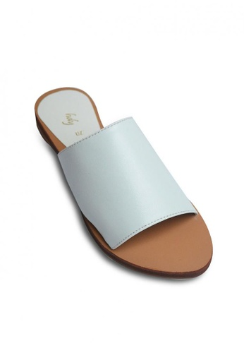 HDY white Kimberly Slide Flat Sandals HD484SH0JC3FPH_1