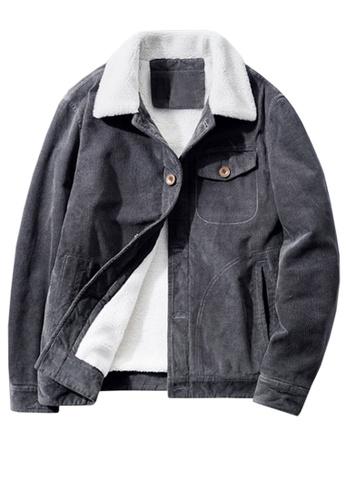 Twenty Eight Shoes grey VANSA Fashionable Warm Corduroy Coat  VCM-C83866 DF321AAD198C6EGS_1