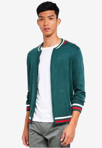SPARROW GREEN green Vance Retro Cardigan 54D65AA52B5643GS_1