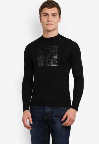 High Cultured black Crew Neck Sweater HI002AA0S1TXMY_1