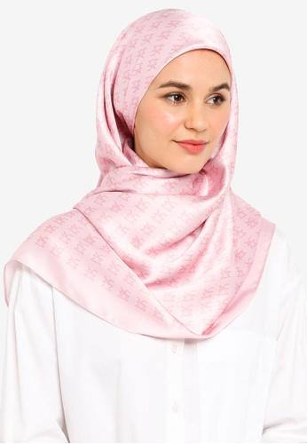 UMMA pink Umma Monogram Square Scarf D51E4AAF563828GS_1